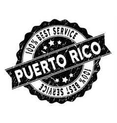 Puerto rico best service stamp with dust effect vector