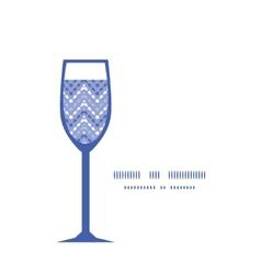 Purple drops chevron wine glass silhouette vector