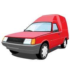 red pickup vector image