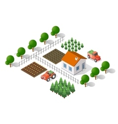 Rural landscape elements vector