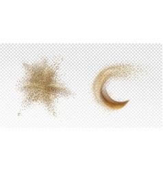 Sand explosion sandy splash scatter grains vector