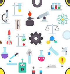 Science pattern stickers vector