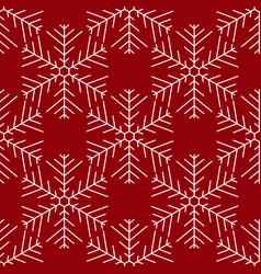 seamless white christmas snowflakes vector image