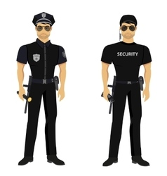 Security and Police guards isolated vector