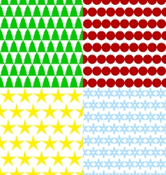 set of seamless Christmas backgrounds vector image