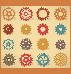 simple tooth wheels vector image