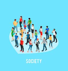 social concept of public opinion vector image
