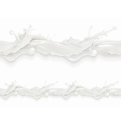 Splashes of milk milky flow seamless pattern vector