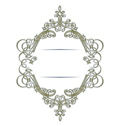 stylish retro lace border in vector image