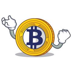 Successful bitcoin gold character cartoon vector