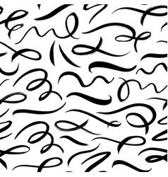 swirled brush strokes seamless pattern vector image