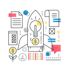 technology start up new modern business concept in vector image