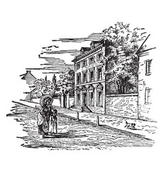 The presidents house in philadelphia 1794 vintage vector