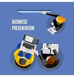Top view business presentation banner vector