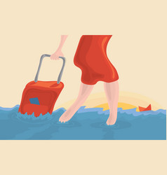 travel accident insurance vector image