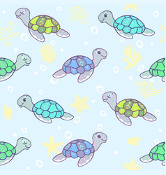 Turtles background vector