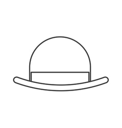 Vintage hat icon vector