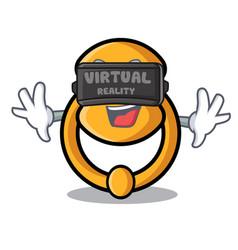 Virtual reality elegant fashion door knocker vector