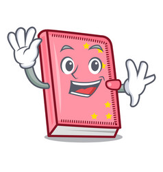 waving diary character cartoon style vector image