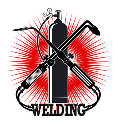 Welding with tool symbol vector