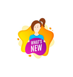 Whats new symbol special offer sign vector