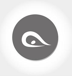 yoga asan icon vector image