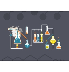 Chemistry infographics template vector image vector image