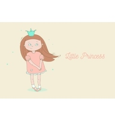 Creative little princess vector image
