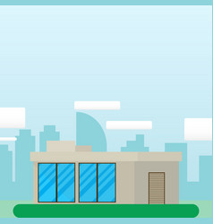 flat style modern architecture housebeautiful vector image vector image