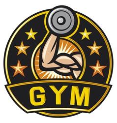 gym label vector image
