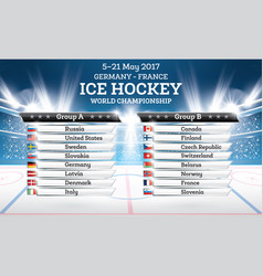ice hokey world championship 2017 vector image
