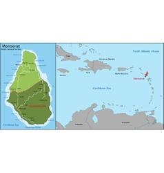 Montserrat map vector image