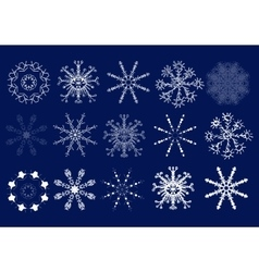 Set of snowflakes Hand draw vector image vector image