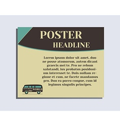 Travel and camping poster design layout template vector