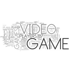 A breif histoory of video games text word cloud vector