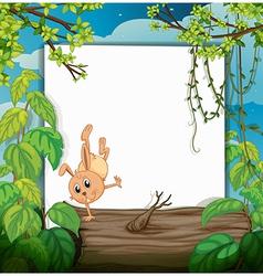 A dancing rabbit vector image vector image