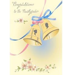 Greeting wedding card vector image