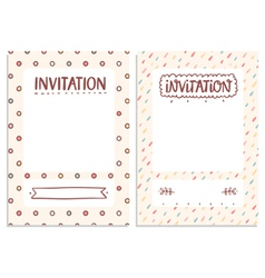 Invitations templates vector image