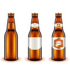 light beer bottle design 3d realistic vector image vector image