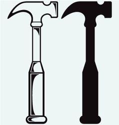 Metal hammer symbol vector image vector image