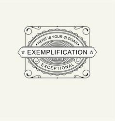 modern emblem badge label monogram template vector image vector image