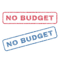 No budget textile stamps vector
