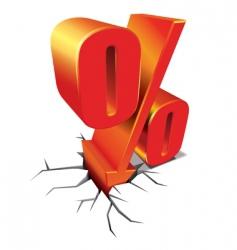 percent discount vector image vector image