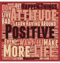 Positive attitude how to have a positive attitude vector