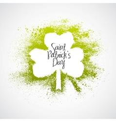 St Patrick Day grunge frame vector image vector image