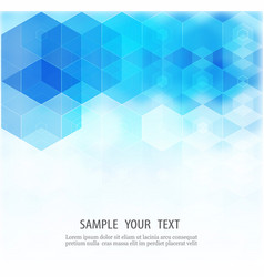 abstract hexagonal background template vector image vector image
