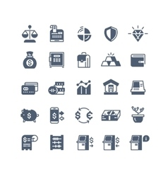 Banking finance money cash icons vector image vector image