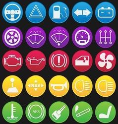 Car dashboard icon set gradient vector