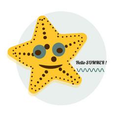 cartoon sea star cartoon vector image vector image