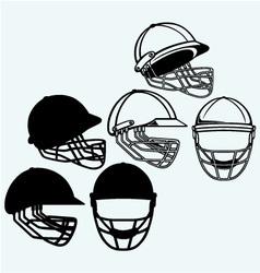 Cricket helmet vector image vector image